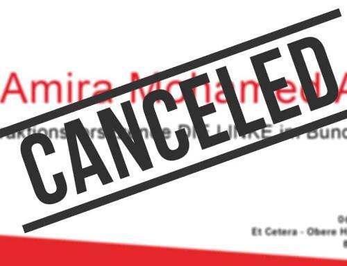 Veranstaltung am Freitag (06.03) abgesagt!